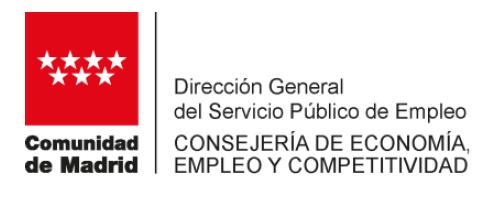 D.G. del Servicio Público de Empleo Comunidad de Madrid