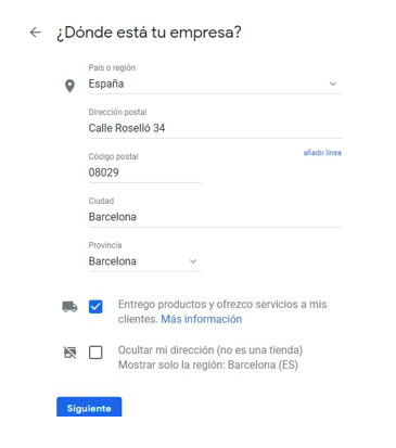Pasos para crear una ficha en Google My Business