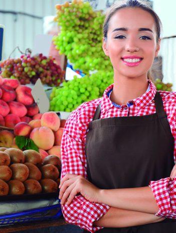 Merchandising y venta en las secciones de productos frescos